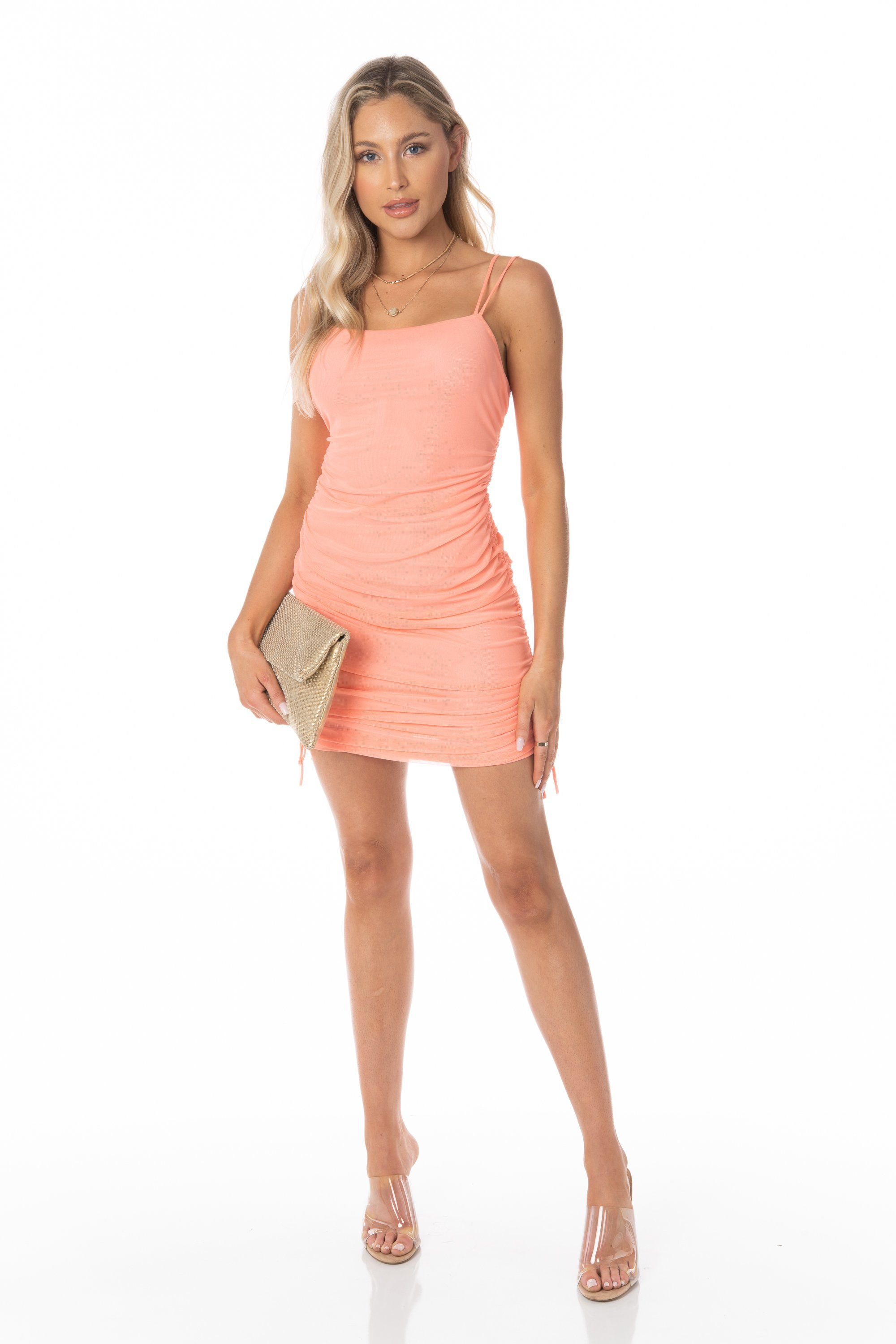 Mesh Bodycon Dress Sleeveless Nectarine Dresses HYPEACH BOUTIQUE
