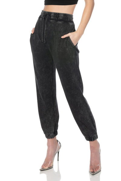 Mineral Washed Black Relaxed Fit Joggers - Hypeach Lounge Bottoms HYPEACH