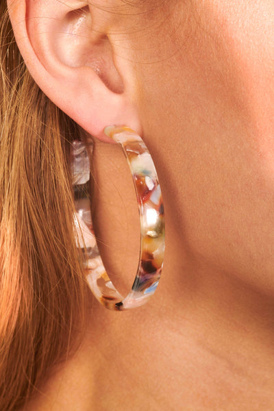 Multicolor Marble Acrylic Hoop Accessories HYPEACH