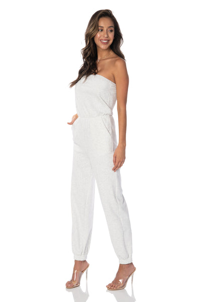 Newport Weekend Jogger Light Grey Jumpsuit Rompers & Jumpers HYPEACH BOUTIQUE