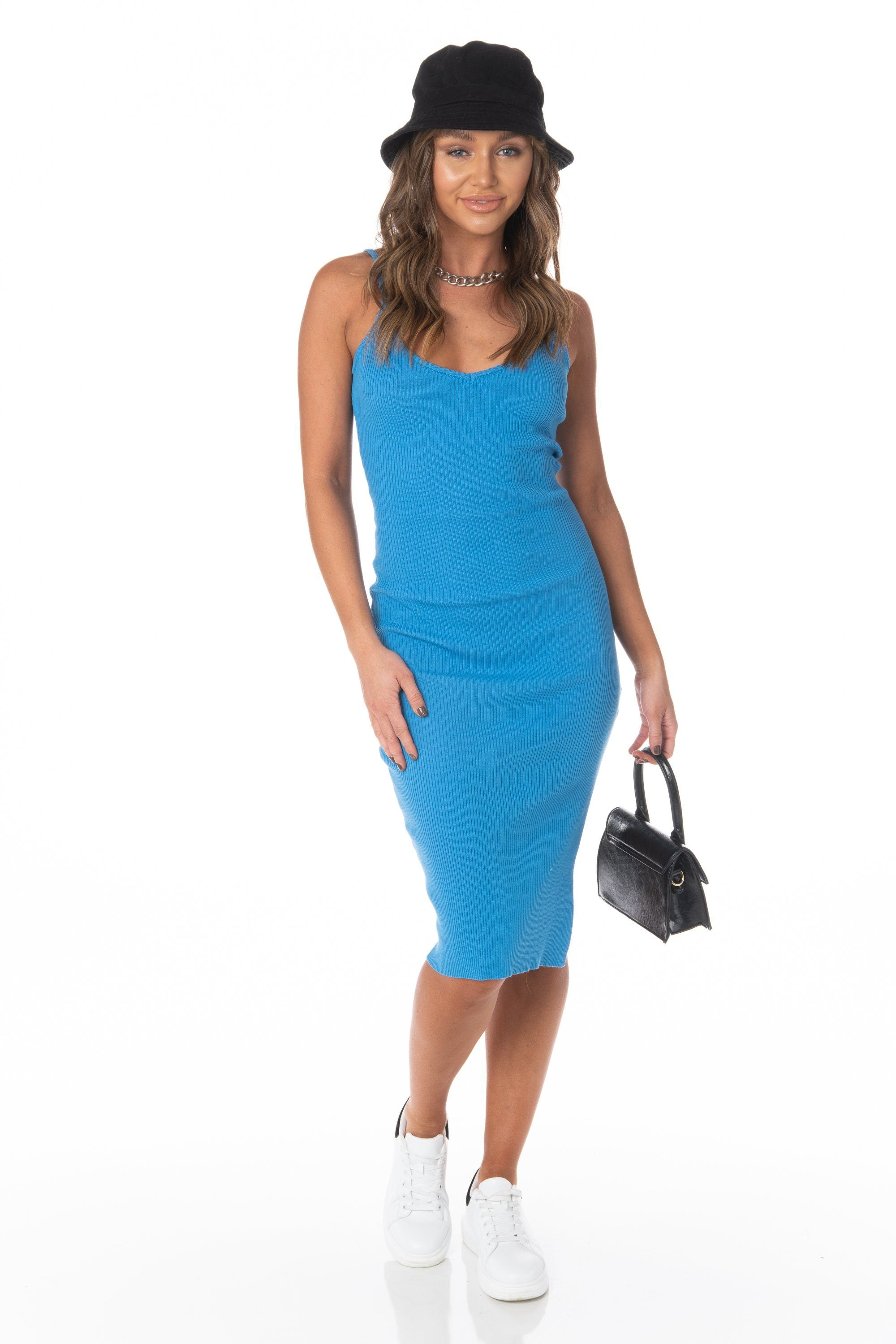 Ocean Wave Blue Midi Dress Dresses HYPEACH BOUTIQUE
