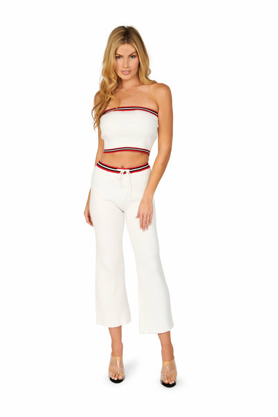 Ready for The Weekend White Track Pants Sets HYPEACH BOUTIQUE