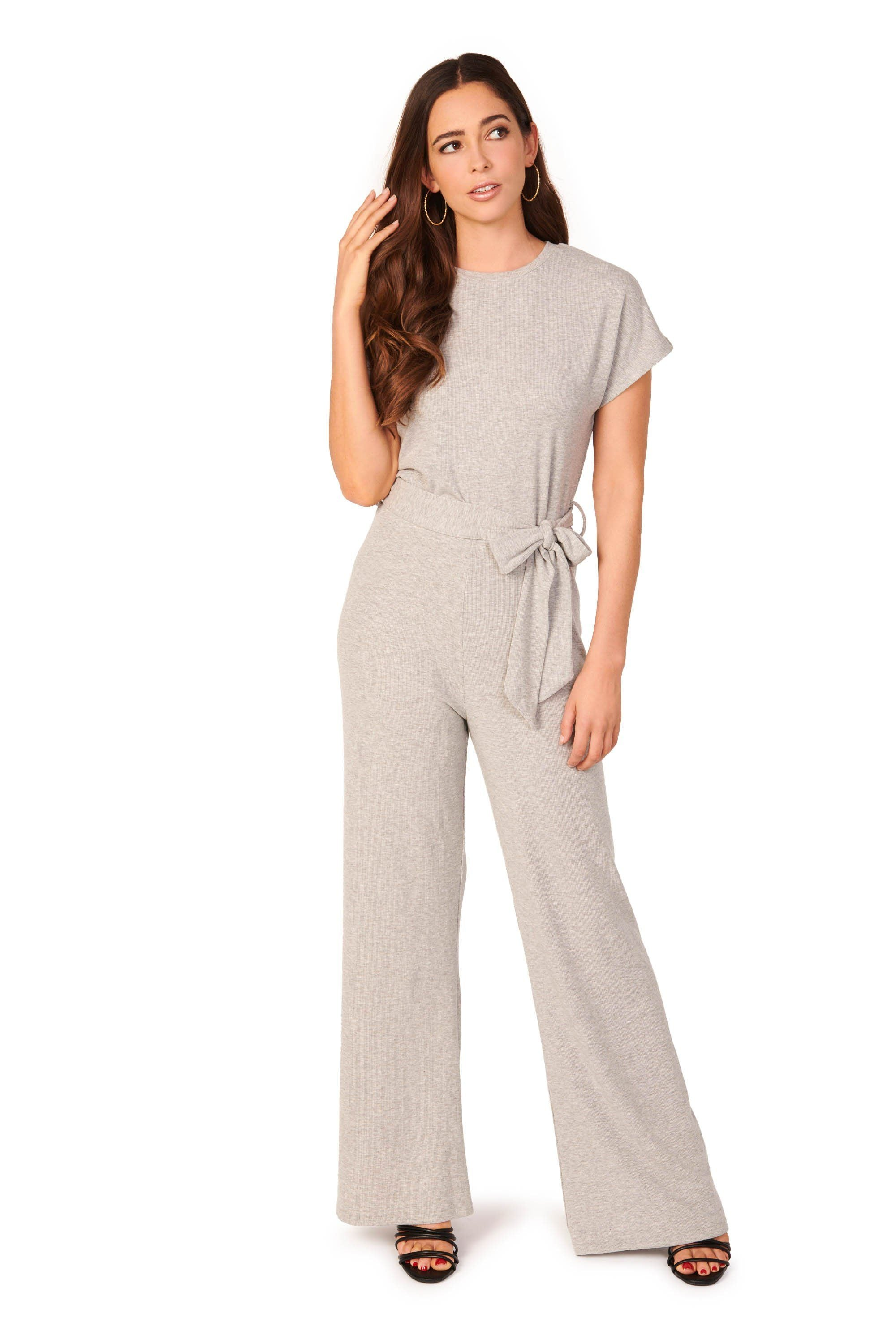 Relaxed Knit Grey Jumpsuit Rompers & Jumpers HYPEACH BOUTIQUE