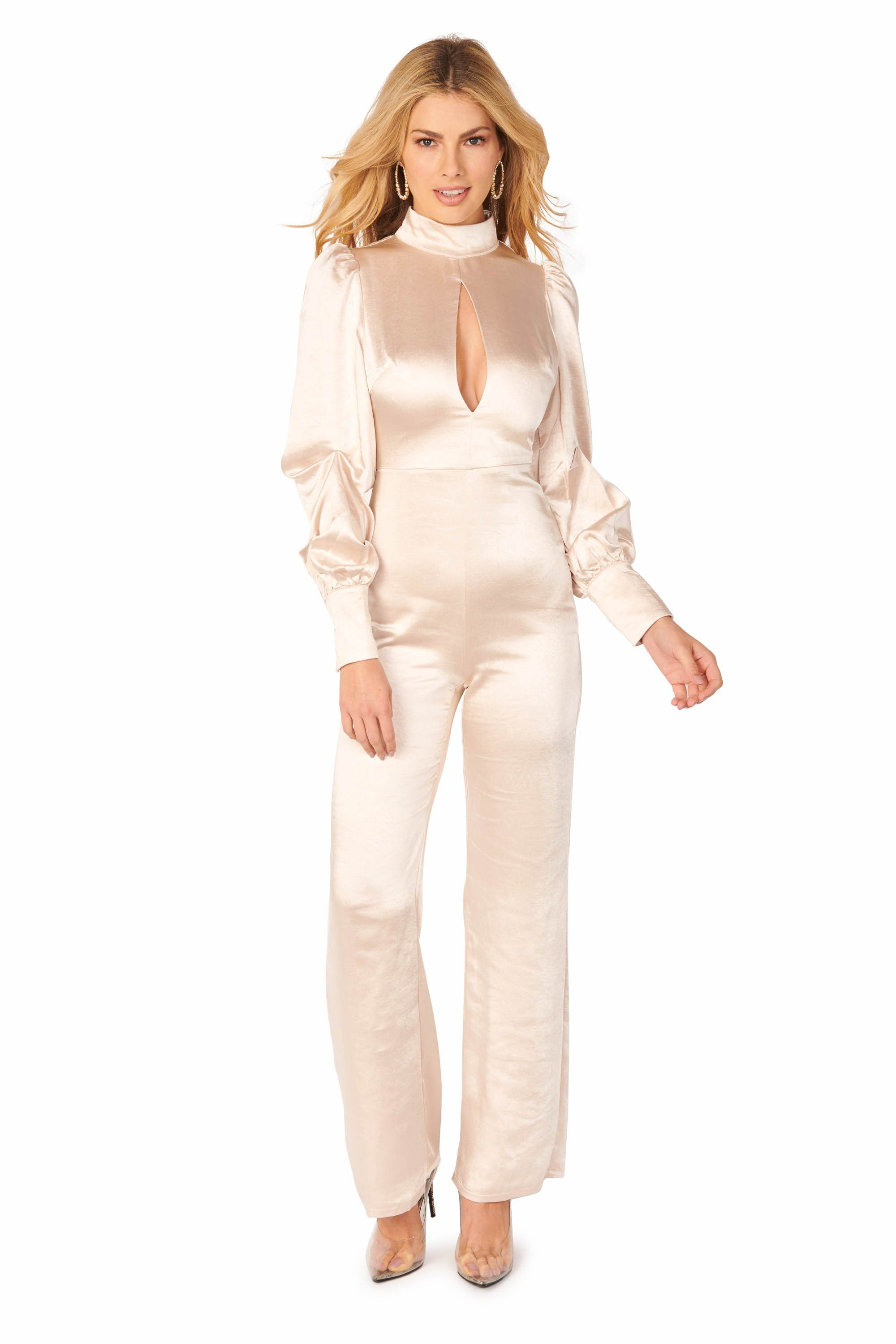 Sleek & Sexy Highneck Blush Jumpsuit Rompers & Jumpers HYPEACH BOUTIQUE