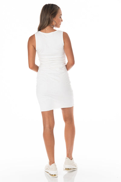 Sleeveless Ivory Summer Dress - FINAL SALE Dresses HYPEACH BOUTIQUE