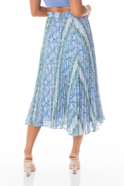 Snake Print Midi Skirt Multicolored Sets HYPEACH BOUTIQUE