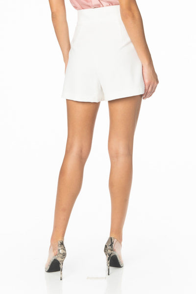 South Coast High Waist White Shorts Bottoms HYPEACH BOUTIQUE