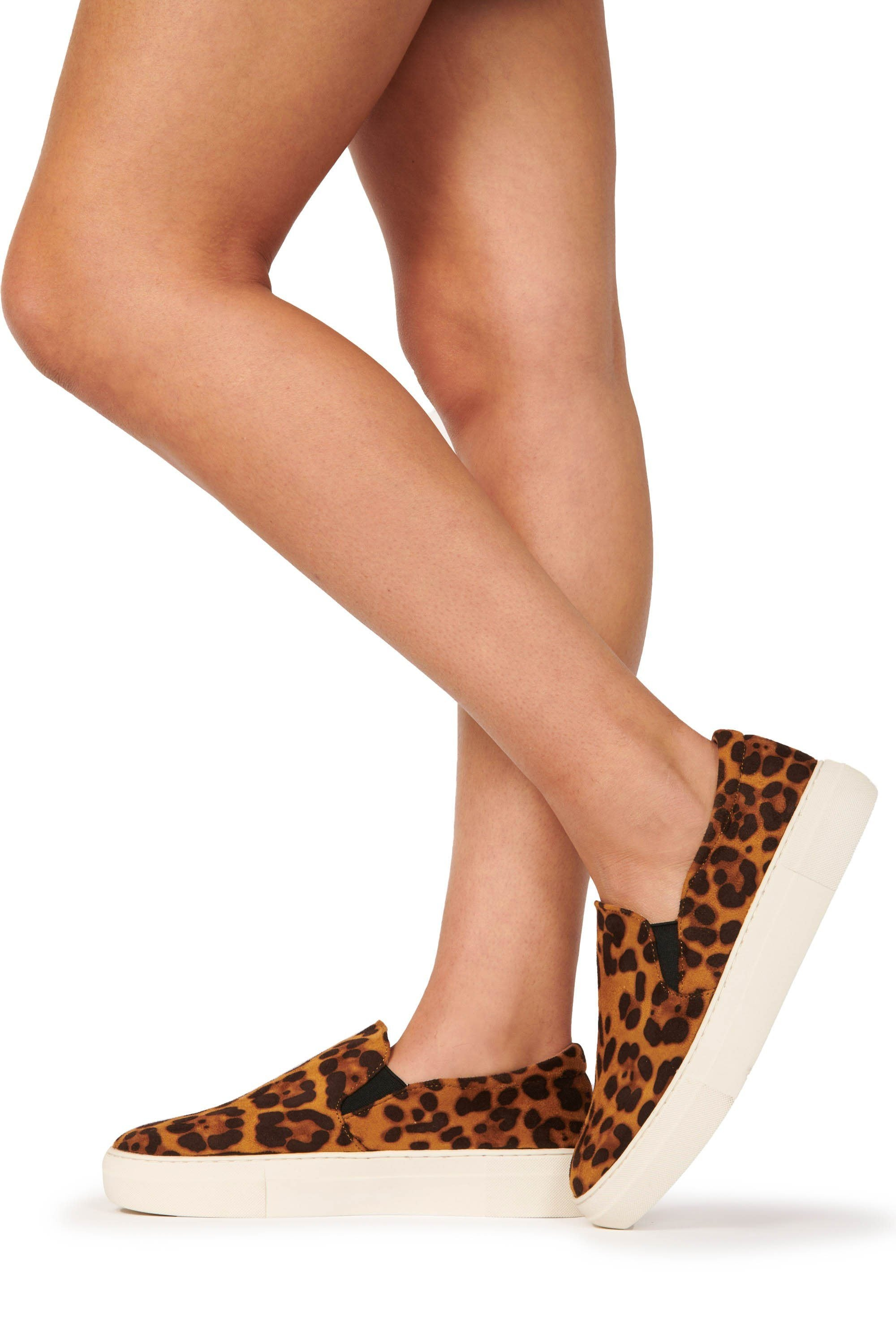 Suede Platform Slide Leopard Shoes HYPEACH BOUTIQUE