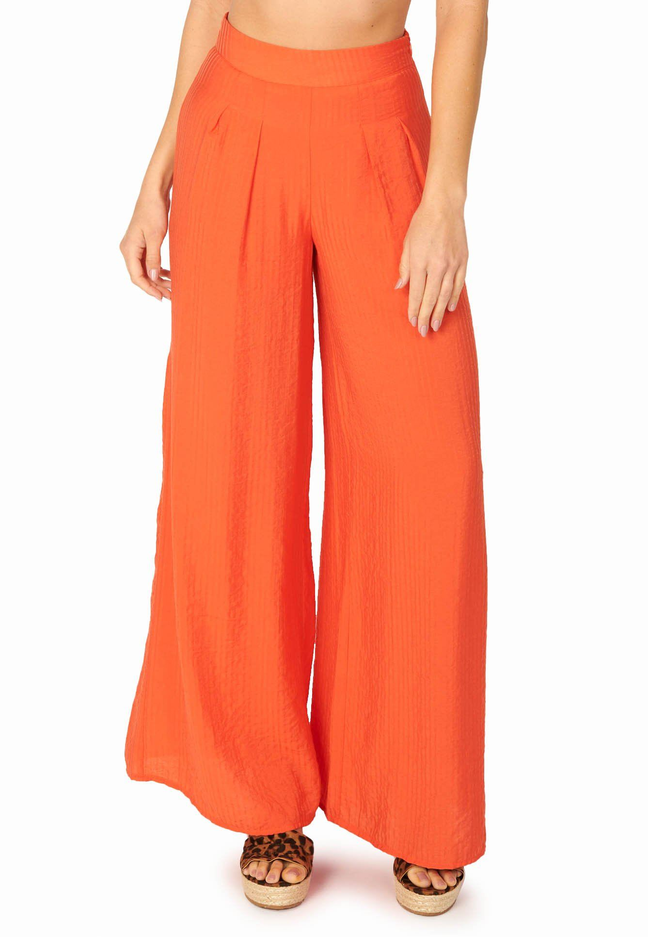 Tropicana Wide Leg Pants Orange Sets HYPEACH BOUTIQUE