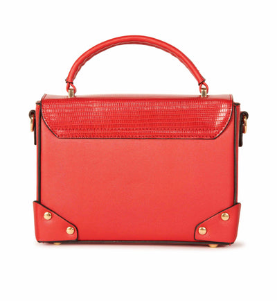 Vegan Leather Box Crossbody Red Handbag Accessories HYPEACH BOUTIQUE