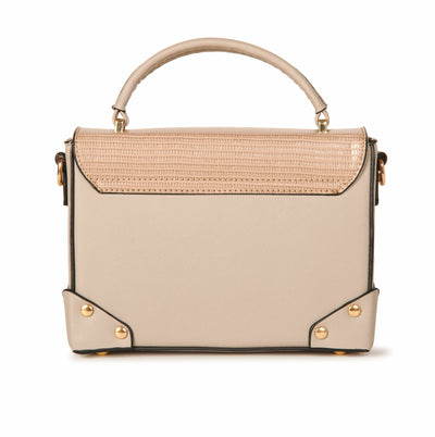 Vegan Leather Box Crossbody Taupe Handbag Accessories HYPEACH BOUTIQUE