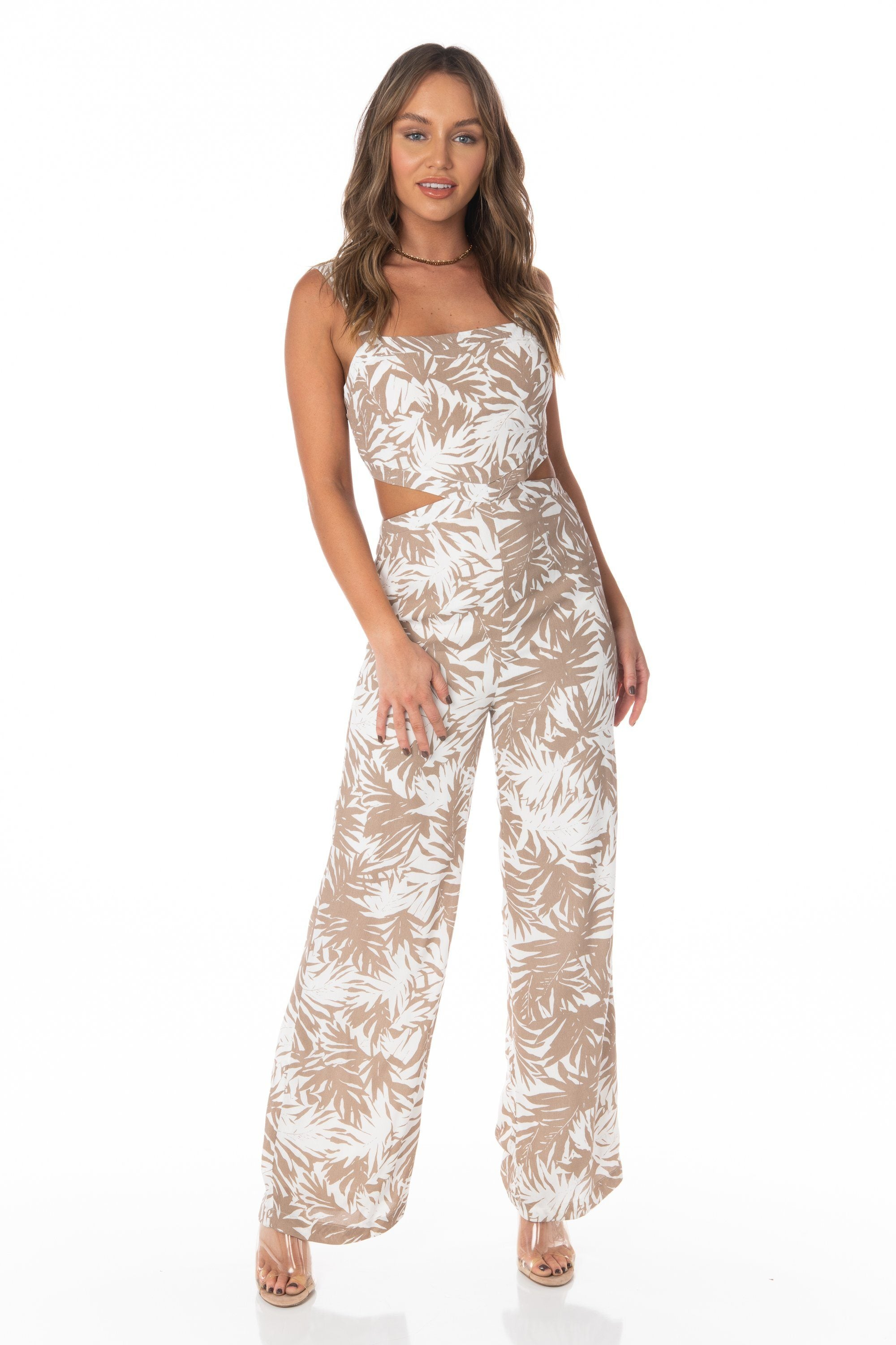 Windansea White Tropical Jumpsuit Rompers & Jumpers HYPEACH BOUTIQUE