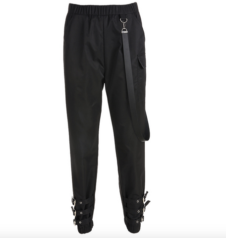 Black Belt Pants #A0008