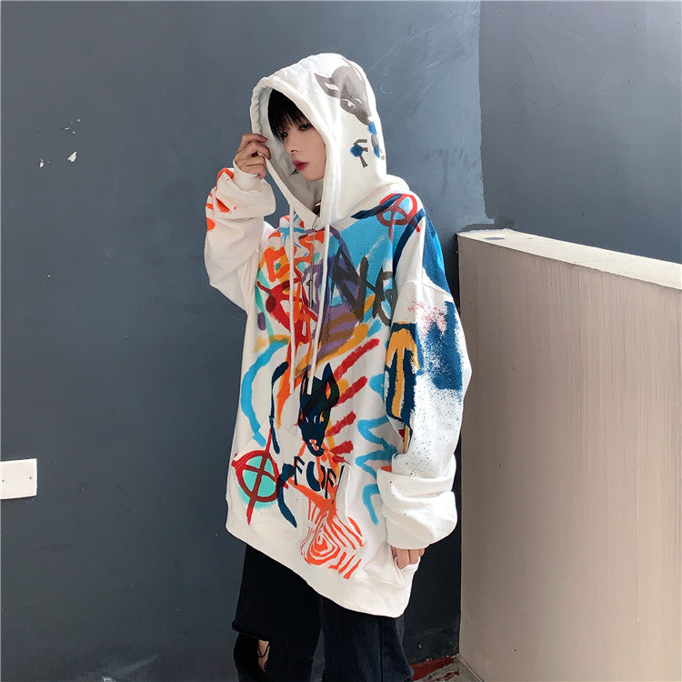 Cool Graffiti Colorful Hoodie #A0427