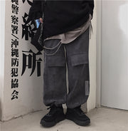 Multi Pockets Wide Pants #A0342