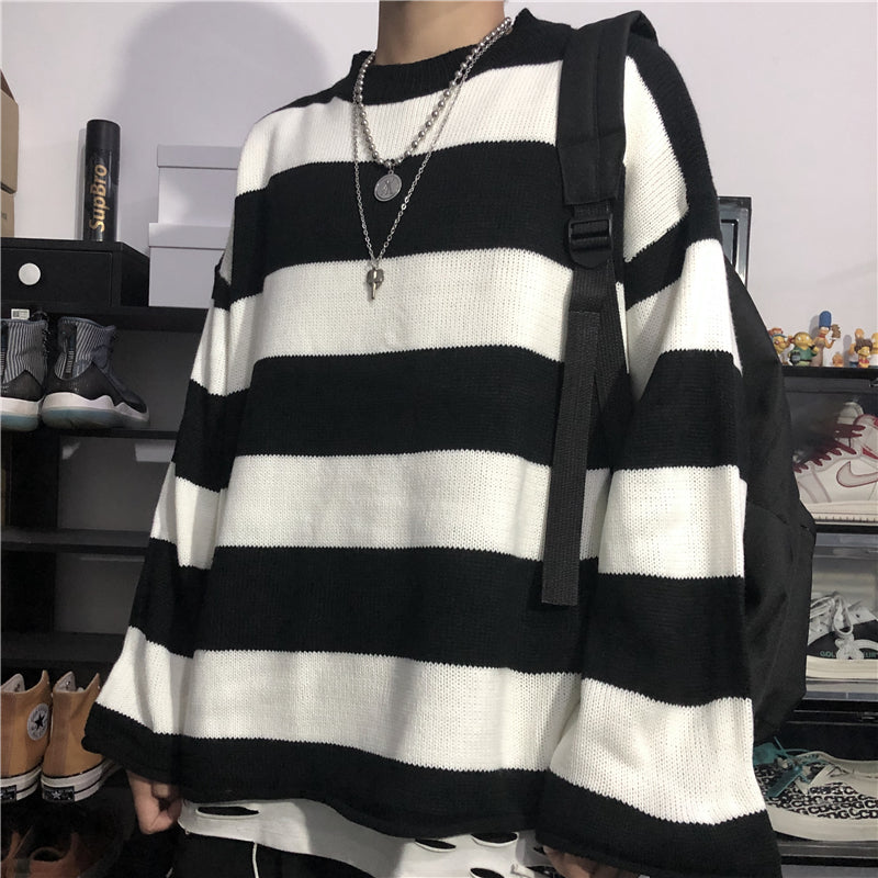 Big Border Stripe Knit #A0434