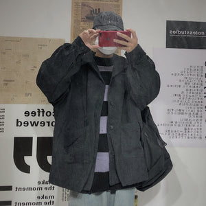 Corduroy Casual-Down Jacket #A0432