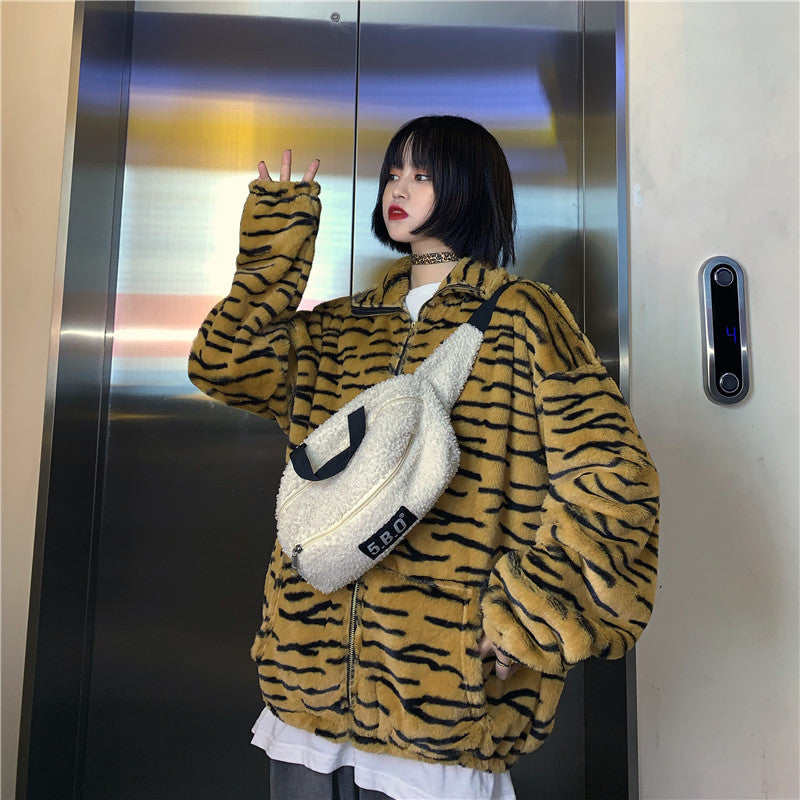 Animal Tiger Fur Jacket #A0412