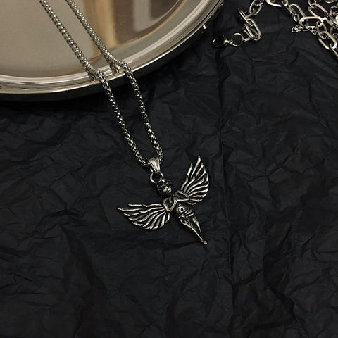 Black Angel Necklace #A0146