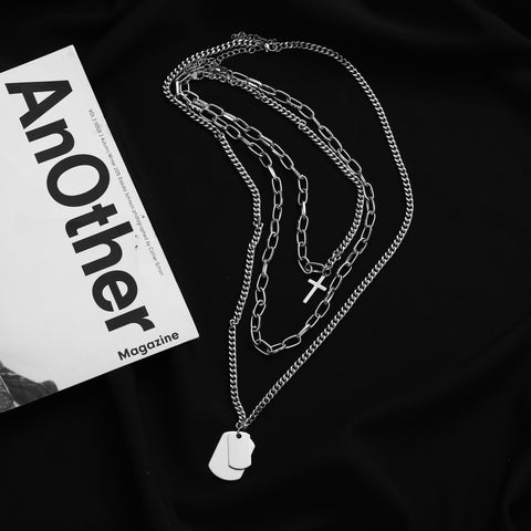 Black 3set Necklaces #A0144