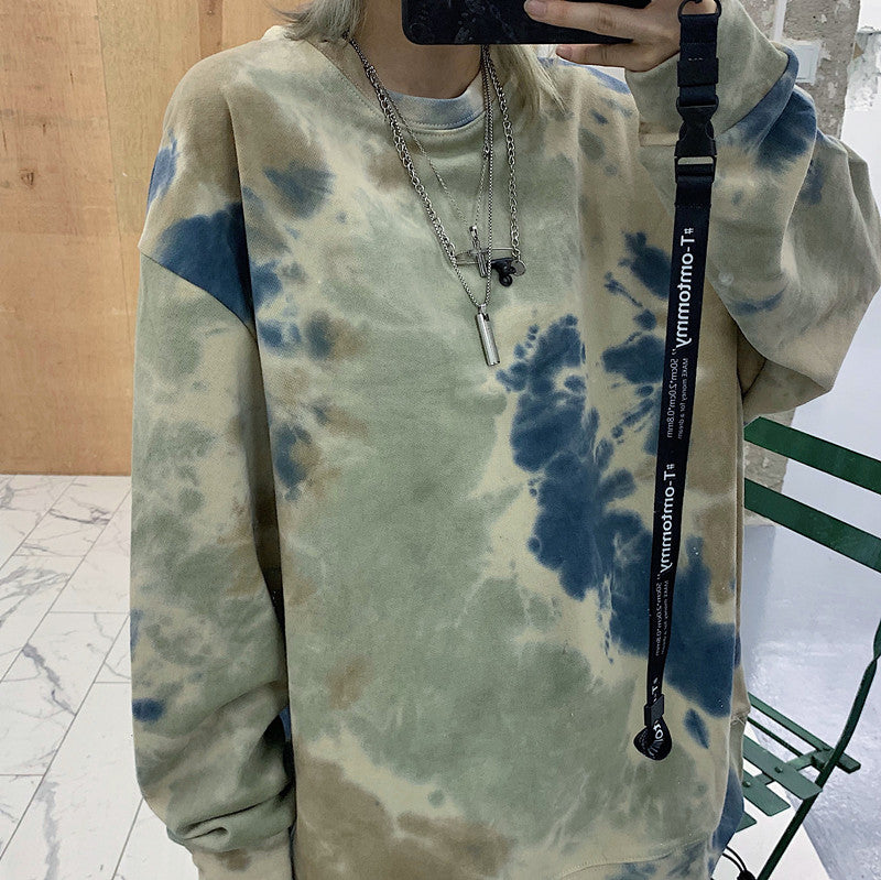 Casual Tie-Dye Long Top #A0390