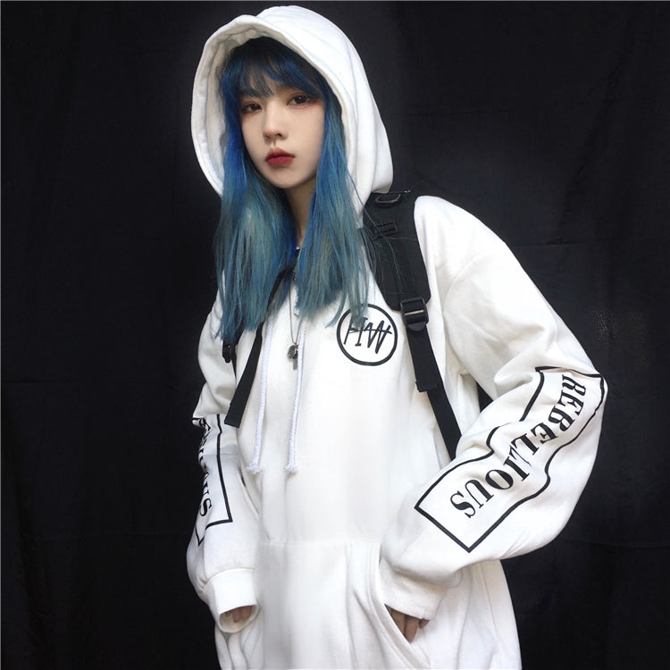 White Street Style Hoodie #A0441