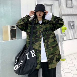 Camouflage Casual Loose Jacket #A0378