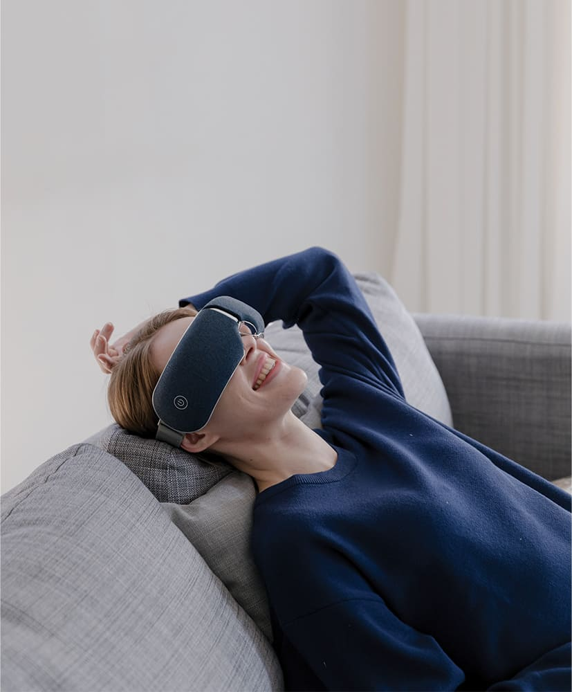 After exercising, Relaxing is important. Eye massage can help you.