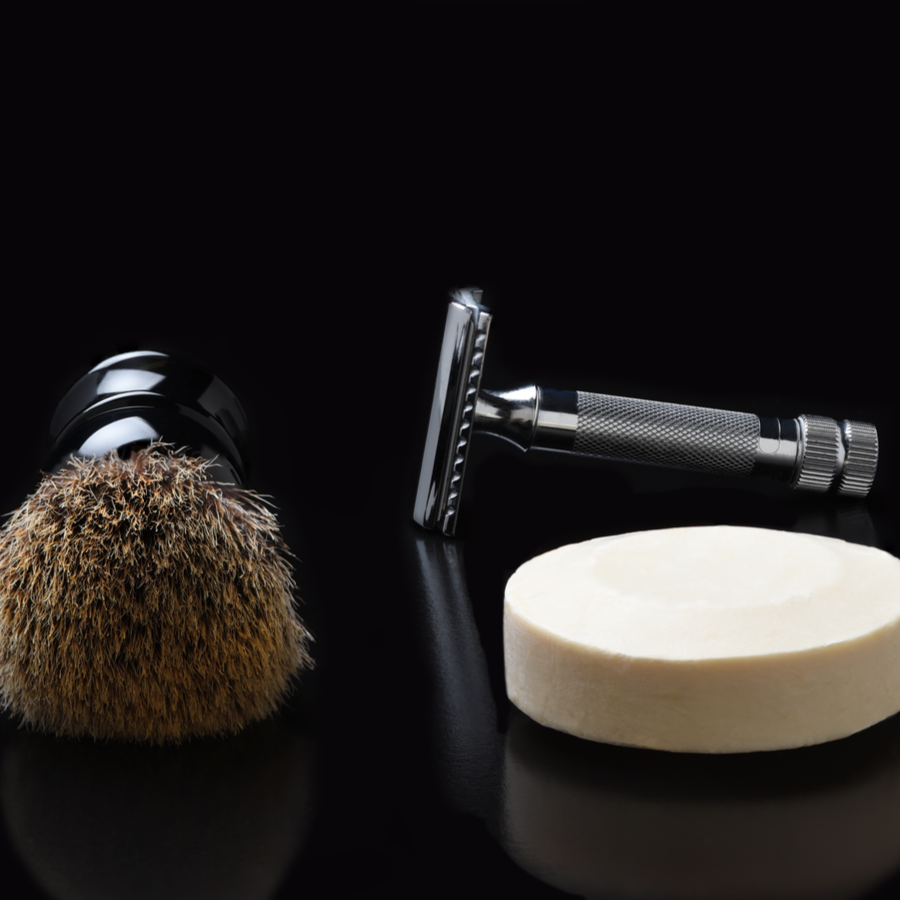 Razor brush and razor kit black image