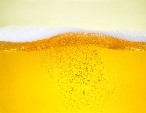 Yellow beer is sparkling which is not good for skin anti aging
