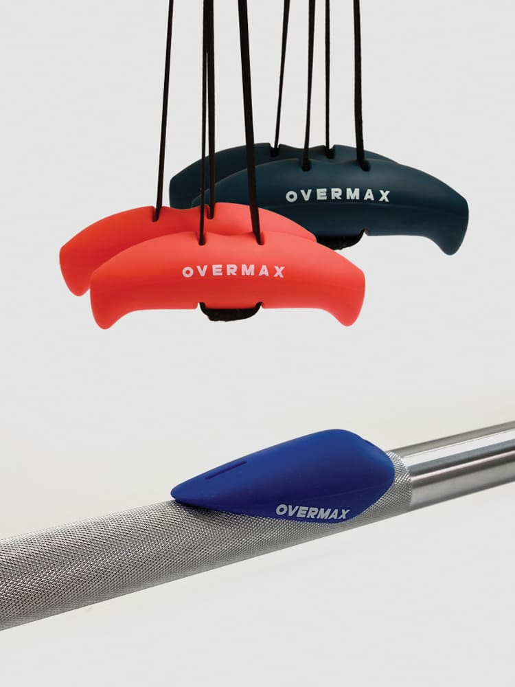 Overmax Exercise Bar Grips increase the effectiveness of exercise and reduce injuries
