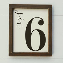 "Load image into Gallery viewer, ""Number Sign"" Framed Wood Sign"""