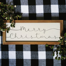 "Load image into Gallery viewer, ""Simple Merry Christmas""  Framed Sign"