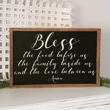 "Load image into Gallery viewer, ""Family Blessing"" Framed Wood Sign"
