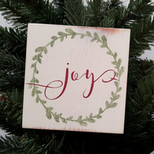 "Load image into Gallery viewer, ""Christmas Word Tiles"" Mini Wood Sign"
