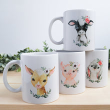 "Load image into Gallery viewer, ""Charlotte the Baby Pig"" Farmyard Babies Mug"