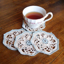 Load image into Gallery viewer, Vintage Style Crochet Doily Coasters