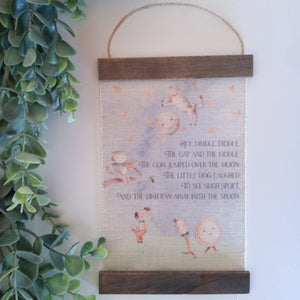 Hey Diddle Diddle, Fabric Wall Hanging