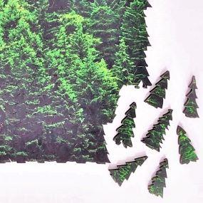 Forest Mist: Tree tessellation puzzle close-up