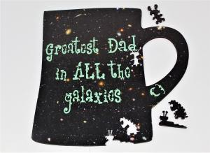Greatest Dad in All the Galaxies 311-piece mug wood puzzle