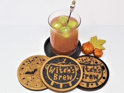 Witch's Brew Puzzle Coasters - 45 Pieces Each, Set of Four