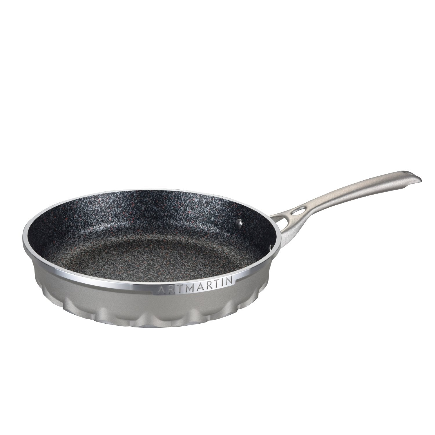 Aluminum Round Frying Pan with Induction Bottom