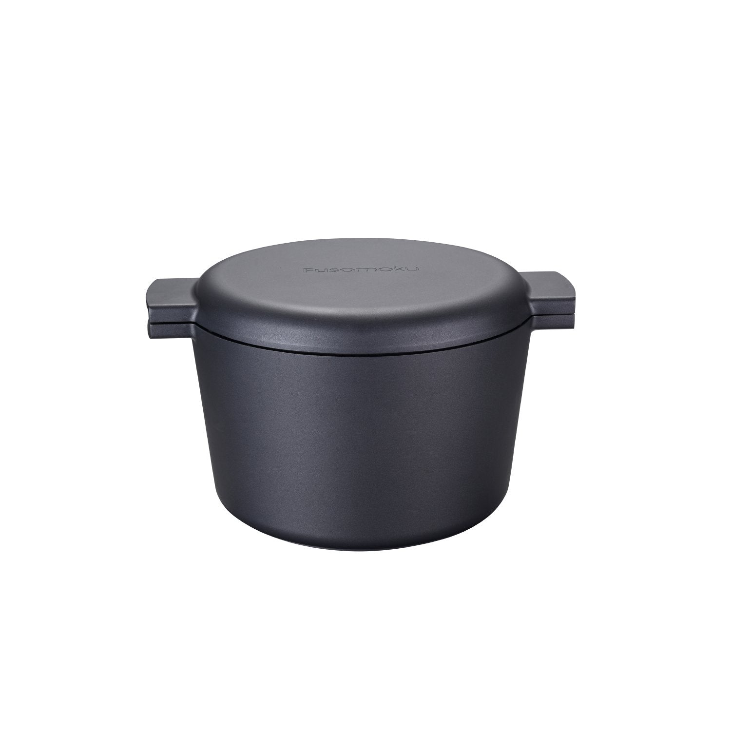 Greblon C2 Non-Stick Coated Die-Cast Aluminum Round Induction Casserole Pan & Lid with Wood Moulding Handle