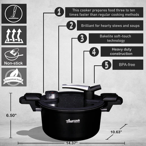 low-pressure cooker black