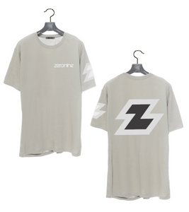 Lt. Grey - Zeronine Reflective Big Z Short Sleeve Soft Tee: 100% Combed Ringspun Cotton