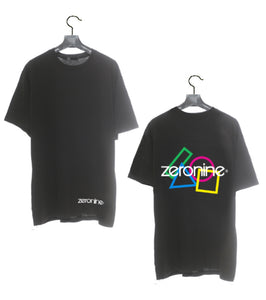 Black - Zeronine Geo Cluster Logo Short Sleeve Soft Tee: 100% Combed Ringspun Cotton