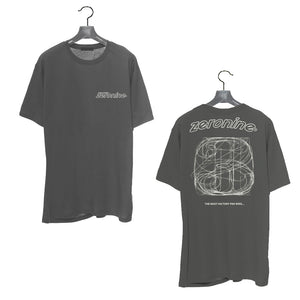Cool Grey - Zeronine Numbers Short Sleeve Soft Tee: 100% Combed Ringspun Cotton