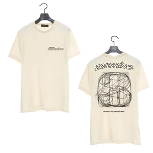 Ecru - Zeronine Numbers Short Sleeve Soft Tee: 100% Combed Ringspun Cotton