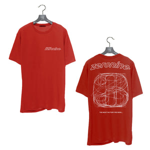 Red - Zeronine Numbers Short Sleeve Soft Tee: 100% Combed Ringspun Cotton