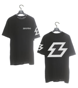 Black - Zeronine Reflective Big Z Short Sleeve Soft Tee: 100% Combed Ringspun Cotton